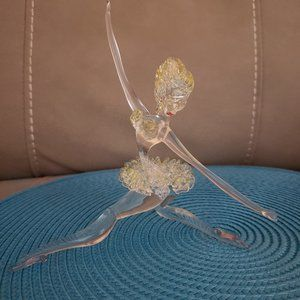 Vintage Ballerina Handblown Glass Sculpture